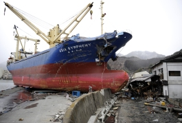 Destruction in Kamaishi from the March 2011 tsunami