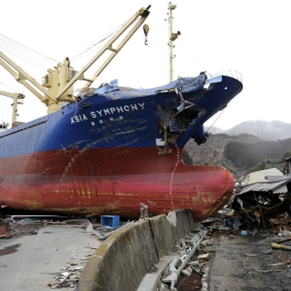 Destruction in Kamaishi from the March 2011 tsunami